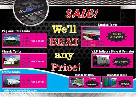 Tents Price List in By South Africa ultimate Tents