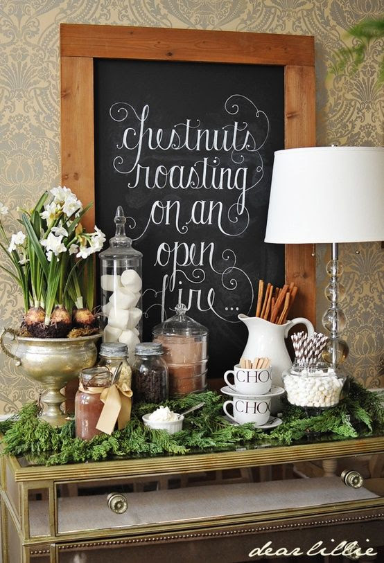 holiday house tour- Why couldn't our board hold a great message with a wicked font. Great idea for a board photo shoot! How to use the board.