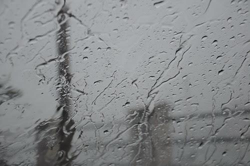 Durante il temporale in auto...