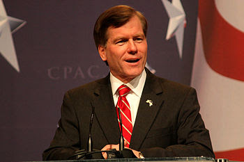 Governor of Virginia Bob McDonnell speaking at...