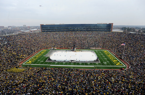 Michigan hockey team will face Ohio State in outdoor 'Frozen ...