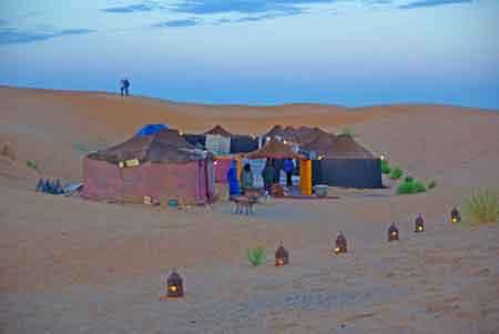 campement dans les dunes de Merzouga