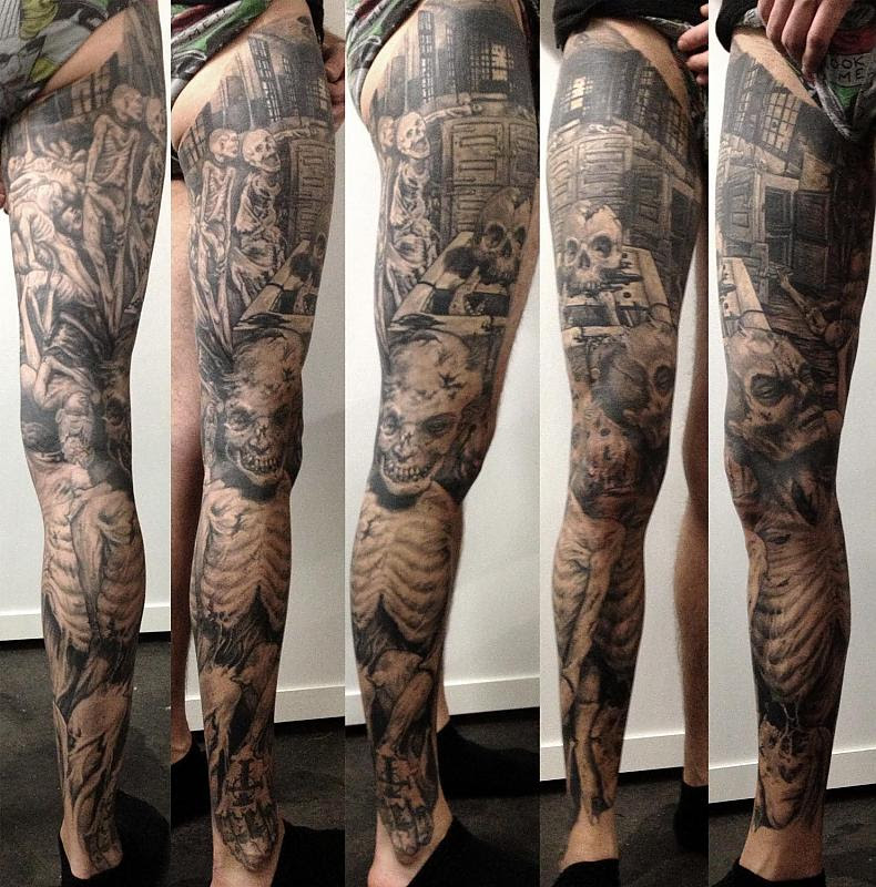 Horror Leg Sleeve Tattoo Design In 2017 Real Photo Pictures