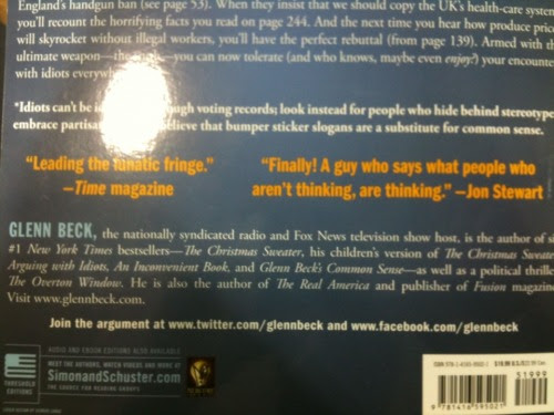When someone calls you an idiot, don't quote them on the back cover of your book in bright yellow 18-point type