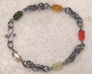 Wire Bracelet + Crystal
