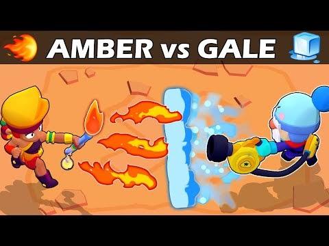 BRAWL STARS - AMBER vs GALE | 🔥vs🧊 | Legendary VS Chromatic | Brawl Stars