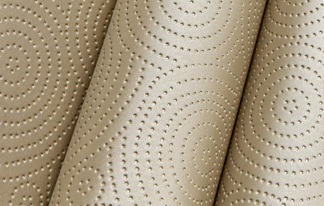 Pebbles. From the Archipelago Line of Sta-Kleen Fabrics. Manufactured by Designtex.