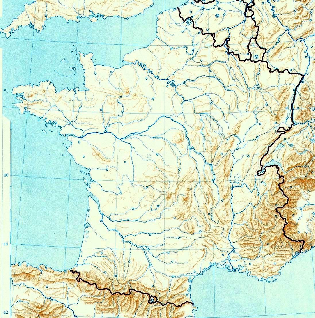 Cartina Fisica Muta Della Francia.Cartina Fisica Francia Da Stampare Stampae Colorare