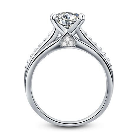 Popular Engagement Ring Cathedral Setting Buy Cheap