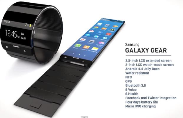 Suposta aparência do relógio inteligente da Samsung (Foto: Reprodução/T3)