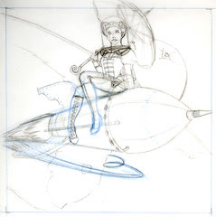 WIP Rocketgirl - Sketch
