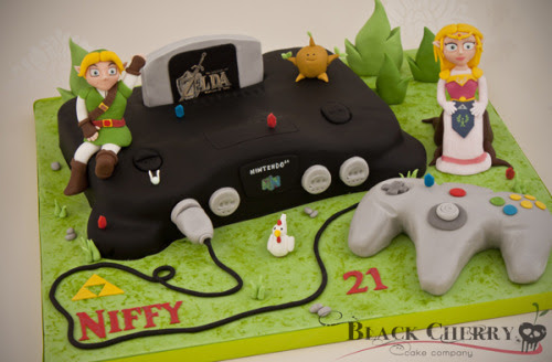 Increíble tarta retro del Ocarina of Time.
