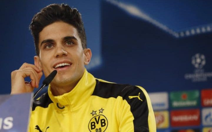 A file picture dated 06 December 2016 of Borussia Dortmund's Spanish defender Marc Bartra