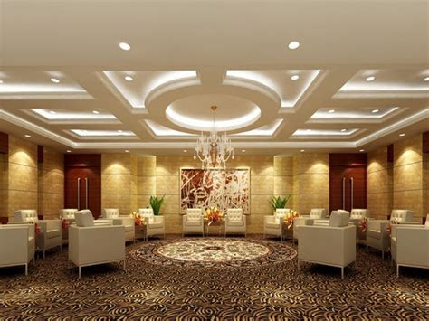 Modern ceilings for halls, modern banquet hall design