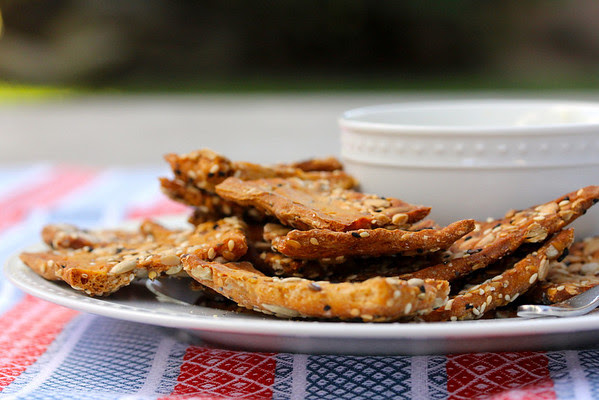 Crunchy Seeded Crackers