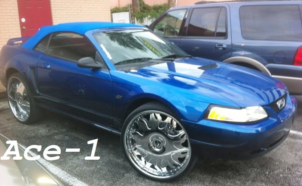 Ace-1: FOR SALE- Candy Blue Convertible Ford Mustang GT on ...