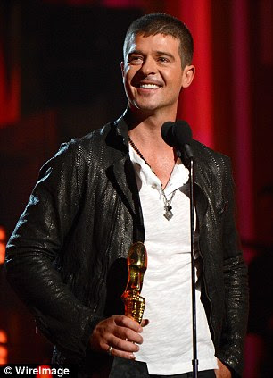 The talented Mr Thicke: Robin was honoured with multiple awards for his song Blurred Lines