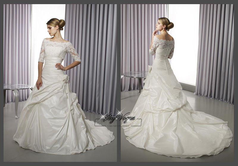 ML10J51 Short Sleeves Arabic wedding dress