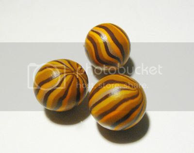 DIY tutorial pandora style polymer clay stripped beads