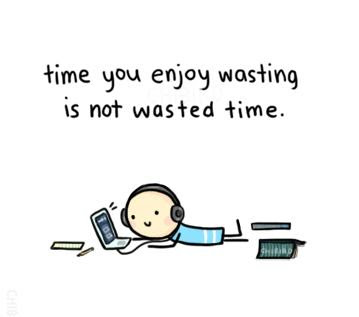 Time You Enjoy Wasting Is Not Wasted Time Quotespicturescom