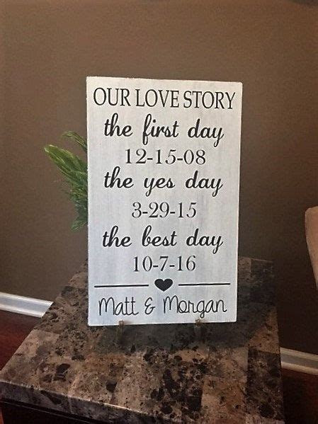 Our Love Story Sign, The First Day The Yes Day The Best