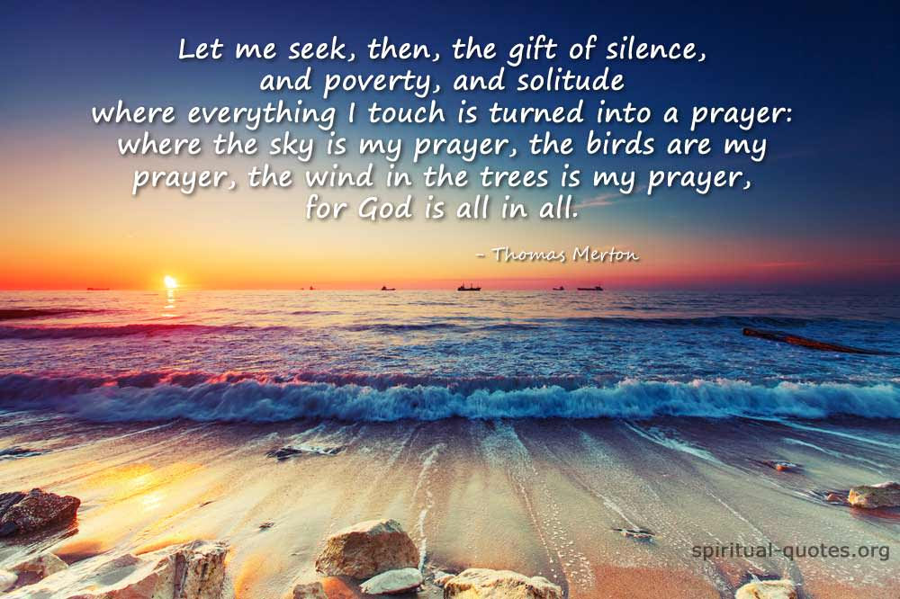 The Gift Of Silence Spiritual Quotes