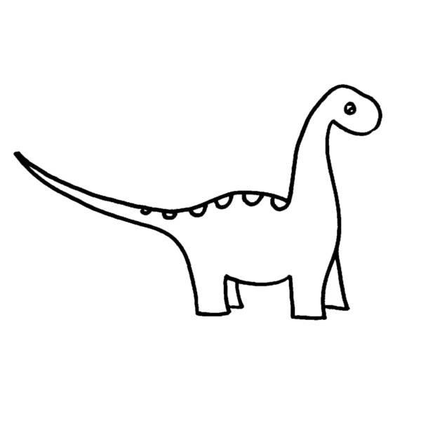 Disegno Di Dinosauro Apatosaurus Da Colorare Per Bambini