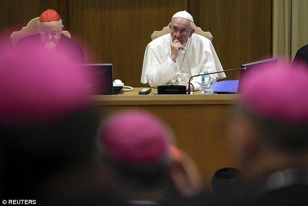 Horrified: When Pope Francis heard people weren't visiting their parents for months on end, he told them they had mortally sinned - but Esther shrugged this off. 'I don't feel bad,' she told the Mail