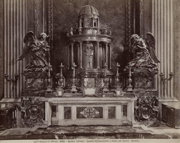 Risultati immagini per altare del santissimo sacramento bernini