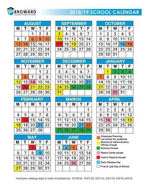 Broward Schools Calendar 2021 | Printable March
