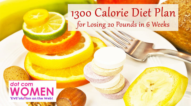 1300 Calorie Diet Plan for Losing 20 Pounds in 6 Weeks ...