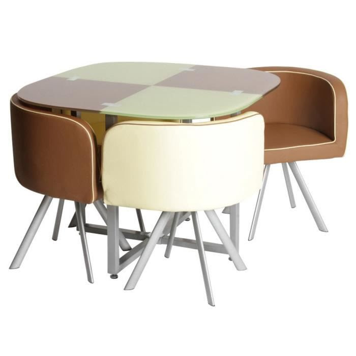 Table rabattable cuisine paris table avec chaise pas cher - Ensemble table chaise cuisine pas cher ...