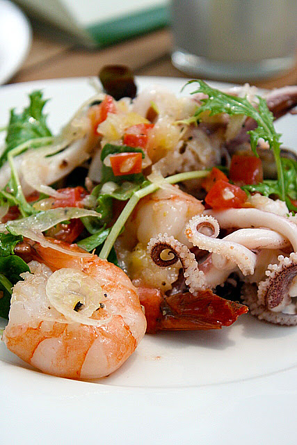 Insalata di mare con salsa al limone (S$13.80): Baby octopus, prawn, mussel, calamari, sun-dried tomato and shallots in lemon dressing