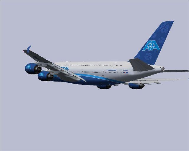 An Air Austral A380 rendering