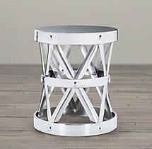 Spanish Colonial Drum Table Nickel