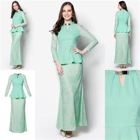 baju kurung moden peplum minimalis baju raya  fesyen