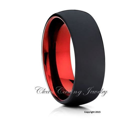 Matte Polish Black Tungsten Wedding Band,Tungsten Wedding