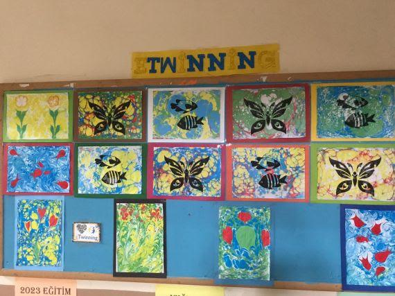 Minik Eller Ebru Sanatı Ile Tanıştı Eğitim Bilişim Ağı