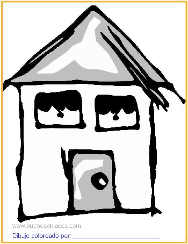 Dibujo De Casa Con Ventanas Para Colorear E Imprimir