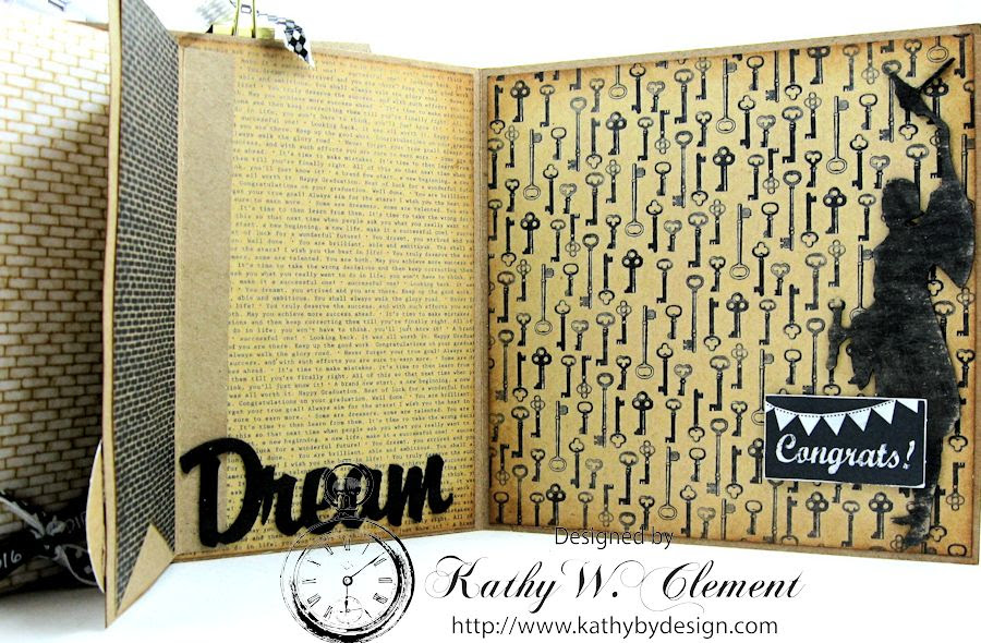Authentique Accomplished Graduation Mini Album Tutorial by Kathy Clement for Gypsy Soul Laser Cuts 11