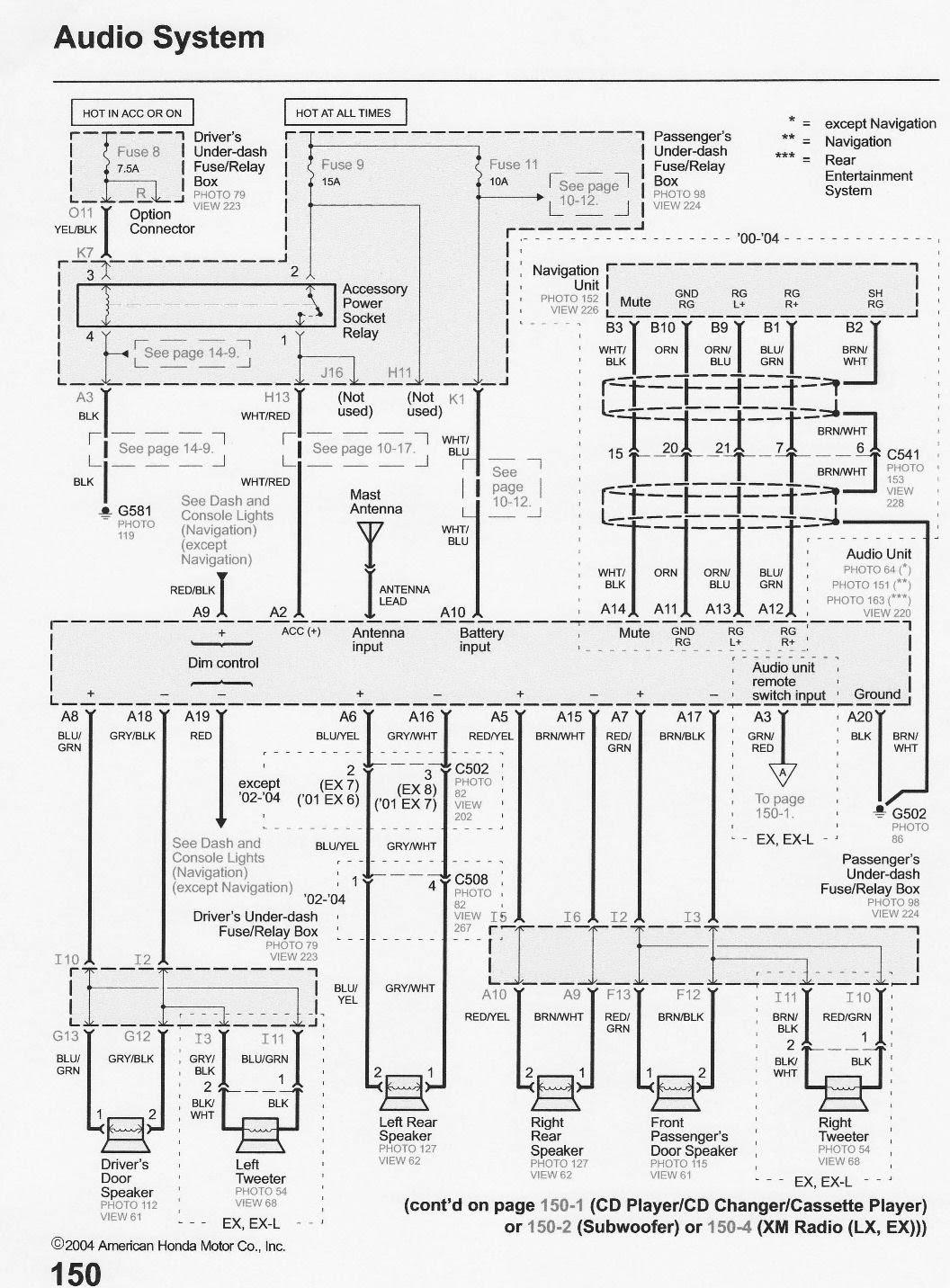 Diagram 2005 Honda Odyssey Radio Wiring Diagram Full Version Hd Quality Wiring Diagram Videodiagram Mddiego It