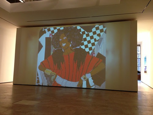 Film still, Mickalene Thomas show