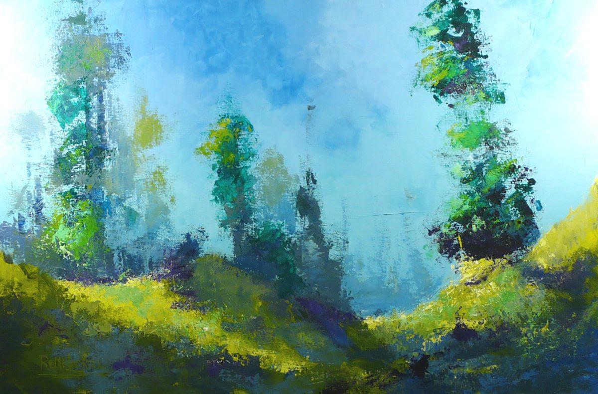 Dans les collines no 7 - 24x36 - Acrylique sur toile (Disponible)