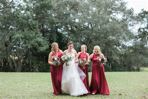 Lovely Red Winter Wedding at Whitefield Chapel in Savannah
