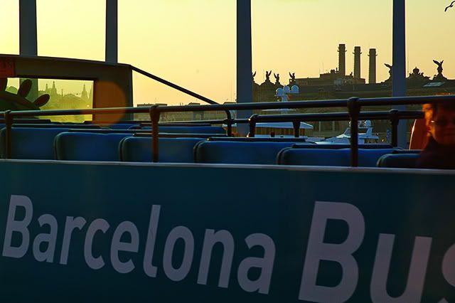 Afternoon Barcelona Tourist Bus Near Maremagnum [enlarge]