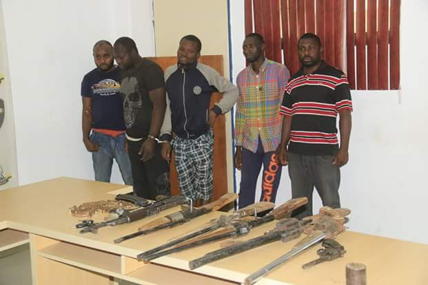 See The Faces Of Kidnappers Arrested In Abuja By Police & Weapons Recovered