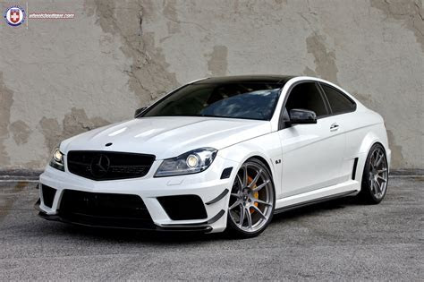 Mercedes Tuning: Wheels Boutique & HRE tweaked C63 AMG Black