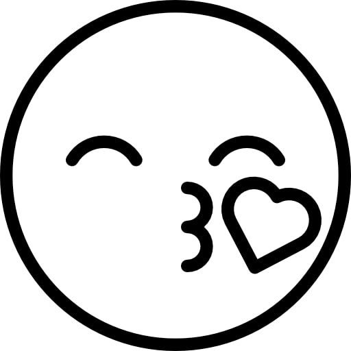 Cute Kiss Emoji Coloring Pages For Kids - coloring pages