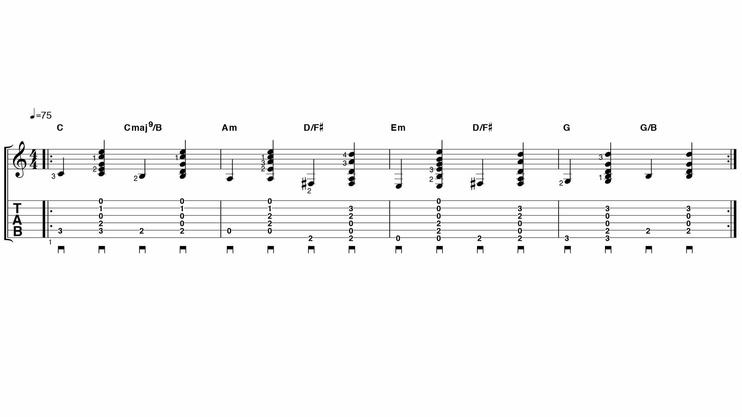 Such Great Heights Chords   Sheet and Chords Collection
