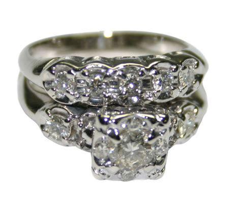 14k White Gold Vintage 0.65ct Diamond Women's Engagement